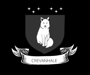 Fox on a Dark Grey Shield titled Crevanhale