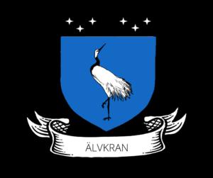 Crane on an Azure Shield titled Alvkran